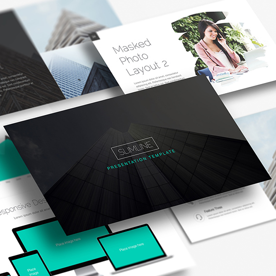 Slimline Powerpoint and Keynote template